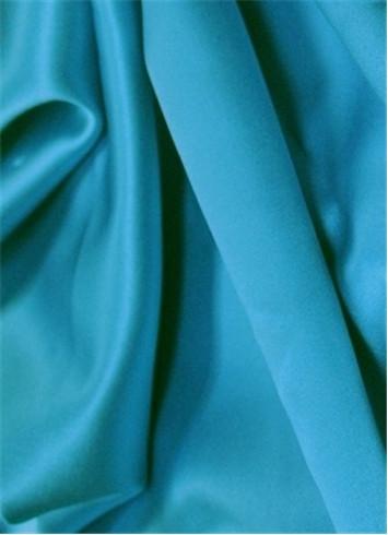 Baja Turquoise Duchess Satin Fabric