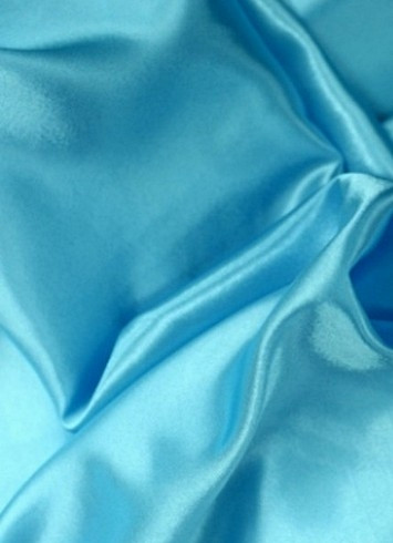 Aqua Crepe Back Satin Fabric