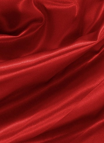 Red Crepe Back Satin Fabric