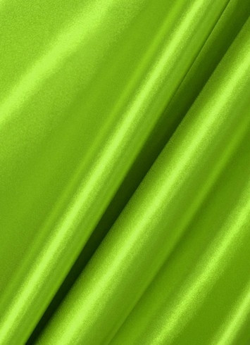 Lime Crepe Back Satin Fabric