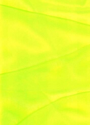 Neon Yellow Sparkle Organza Fabric