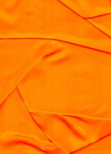 Neon Orange Sparkle Organza Fabric
