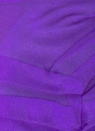 Deep Purple Sparkle Organza Fabric