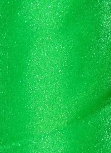 Neon Kelly Sparkle Organza Fabric