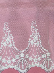PS14000 White Flounce Lace