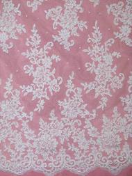 Alencon Lace AL6879C White