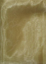 Victorian Gold Crystal Organza Fabric