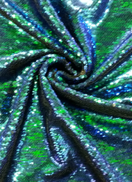 Z0442 Blue Green Sequins