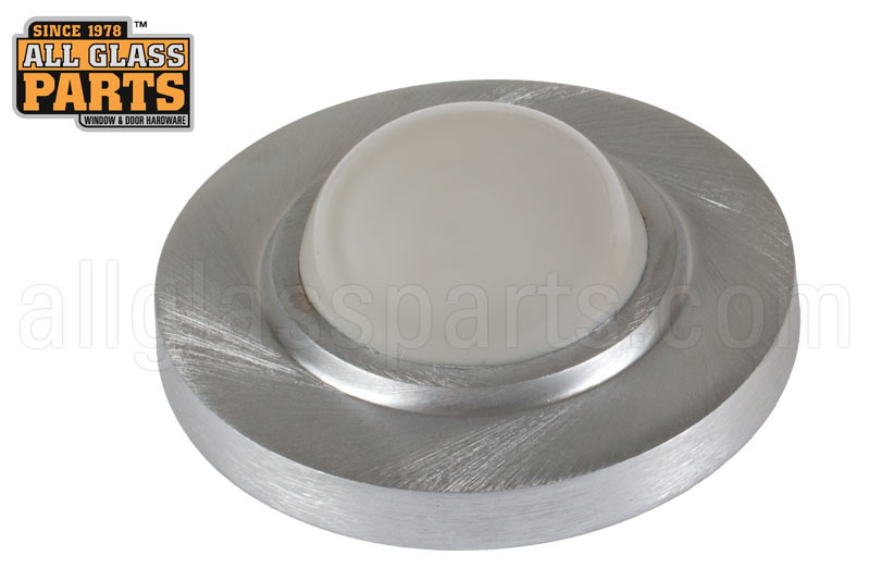 Wall Door Stop Satin Chrome All Glass Parts