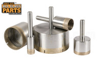 Diamond Core Drill Bits (Sintered, Straight Shank Mount) (1/4'')