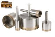Diamond Core Drill Bits (Sintered, Straight Shank Mount) (1/8'')
