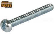 Steel Machine Screws (1/4-20 Thread, Round Head) (4'' Length)