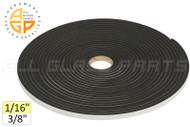 "Neoprene Foam Tape (1/16"") (Adhesive, Closed Cell) (3/8'' Width)"