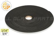 "Neoprene Foam Tape (1/16"") (Adhesive, Closed Cell) (3/4'' Width)"