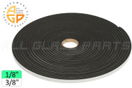 "Neoprene Foam Tape (1/8"") (Adhesive, Closed Cell) (3/8'' Width)"