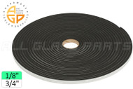 "Neoprene Foam Tape (1/8"") (Adhesive, Closed Cell) (3/4'' Width)"