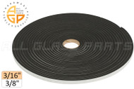 "Neoprene Foam Tape (3/16"") (Adhesive, Closed Cell) (3/8'' Width)"