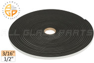 "Neoprene Foam Tape (3/16"") (Adhesive, Closed Cell) (1/2'' Width)"