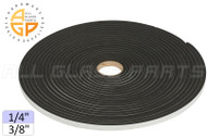 "Neoprene Foam Tape (1/4"") (Adhesive, Closed Cell) (3/8'' Width)"