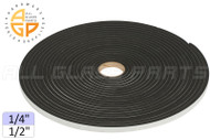 "Neoprene Foam Tape (1/4"") (Adhesive, Closed Cell) (1/2'' Width)"