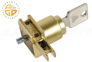 Shoe Lock w Keys (Satin Brass) (Reversible) (Key No. 3002)
