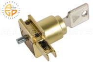 Shoe Lock w Keys (Satin Brass) (Reversible) (Key No. 3003)