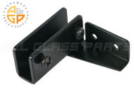 No-Bore Glass Door Hinges (Black)