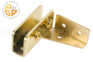 No-Bore Glass Door Hinges (Brass)