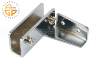 No-Bore Glass Door Hinges (Chrome)