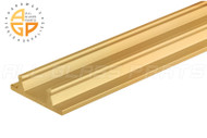 Bottom Track (Gold Anodized) (12' Length)