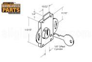 Mail Box Lock - Short Bolt (Brass Plated)