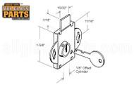 Mail Box Lock - Long Bolt (Brass Plated)