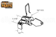 Mail Box Lock (Mill) (1/2'' Length) (1-1/16'' Height)