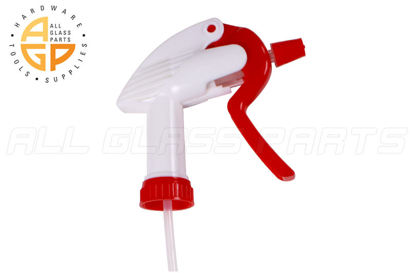 Trigger Sprayer with Dip Tube (High Output) (Red)