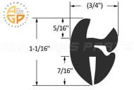 Self-Sealing Weatherstrips (2-Piece Type) (Roll 100) (3/4'' Width)