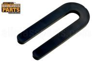Horseshoe Shims (Black) (Size: 1/4'' x 3'' )