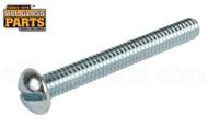 Steel Machine Screw (12-24 Thread, Round Head) (2'' Length)