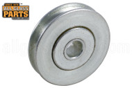 Sliding Glass Door Roller (Wheels) (1-1/4'' Diameter) (1/4'' Width) (1/4'' Inside Dia.)