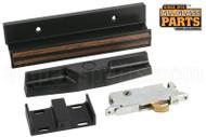 """Sliding Glass Door Handle (4"""" Hole Spacing) (Black) (Strike 1-1/2'')"""