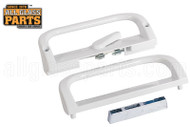 Sliding Glass Door Handle Set (White) (6-9/16'' Hole Spacing)
