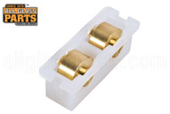 Sliding Window Tandem Roller (1/2'' Height) (Wheels: Brass) (1-1/2'' Length)