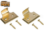 Window Sash Lift (Bright Brass) (1-5/8'' Length)