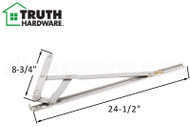 Window Hinge (4-Bar, 90 Degree Egress) (Truth Hardware) (16-13/16 inches length)