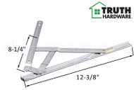 Window Hinge (4-Bar, 90 Degree Egress) (Truth Hardware) (12-5/16 inches length)