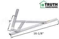 Window Hinge (4-Bar, 90 Degree Egress) (Truth Hardware) (16-7/16 inches length)