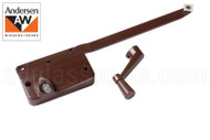 "Single Arm Casement Window Operator (Andersen) (Right) (Brown) (9"" Arm)"