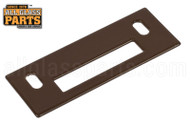 Storm Door Dead Bolt Keeper (Brown)