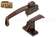 Push Button Latch Set (Brown) (Keyed)