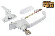 Push button Lock - Keyed (White)