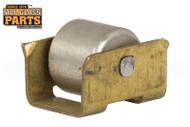 Closet Door Roller with Brass Base